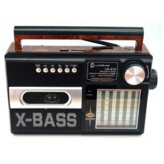 РАДИОПРИЕМНИК LUXE BASS LB-A32 ЧЕРНЫЙ USB/mSD/FM